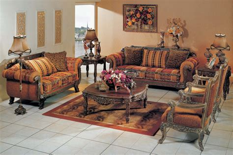Striped Sofas Living Room Furniture by Gold Sofa Set Traditional Striped Sofa With Rolled