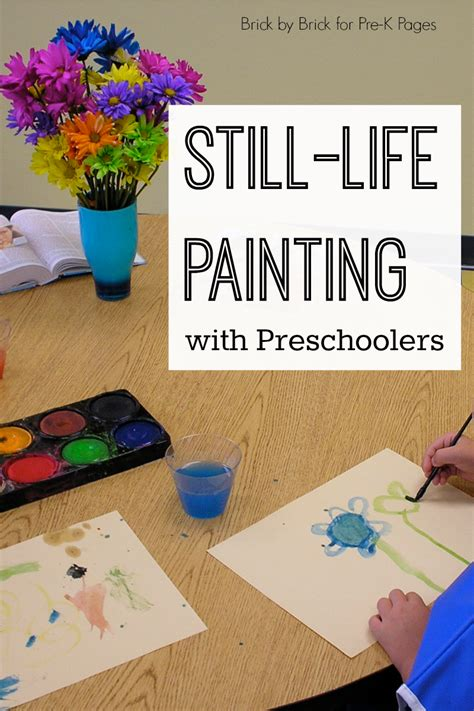 still painting with preschoolers pre k pages 102 | still life painting with preschool