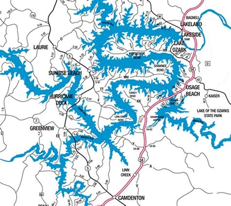 Lake Of The Ozarks Boating Map by A Outing At The Lake Of The Ozarks Is In The Cards