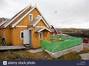 Traditional Inuit House; Kangaamiut, Greenland Stock Photo ...