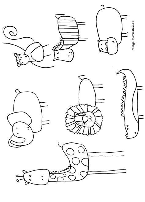immagini divertenti da colorare disegni da colorare animali della giungla divertenti