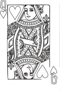 queen  hearts coloring page  clip art  clkercom