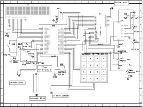 Security Wiring Schematic by Home Security System With Gsm Using 8051 Microcontroller