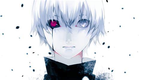 White Anime Wallpaper - anime hair tears tokyo ghoul kaneki