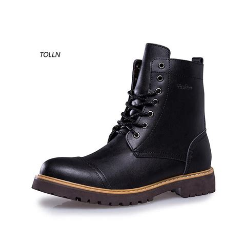 high top motorcycle boots fashion winter leather dr martin boots fur martin high top