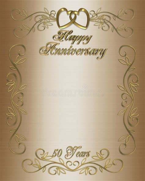 50th Anniversary Invitation Border Stock Illustration