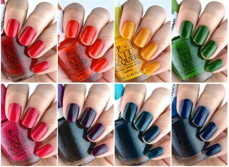 opi color paints blendable nail lacquer collection review