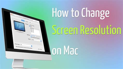 How To Change Screen Resolution On Mac  Youtube