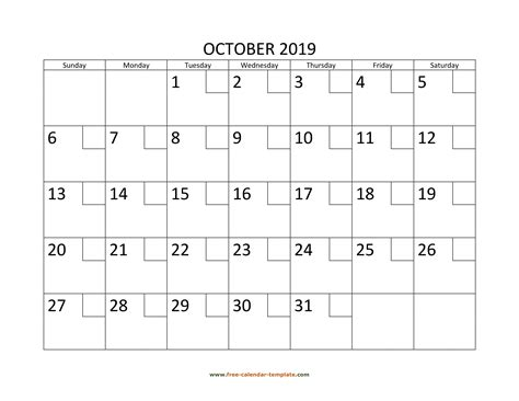 october   calendar tempplate  calendar