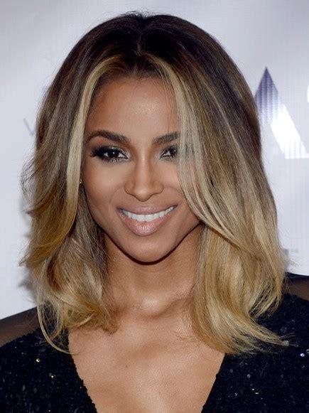 ciara ombre medium hairstyle popular haircuts