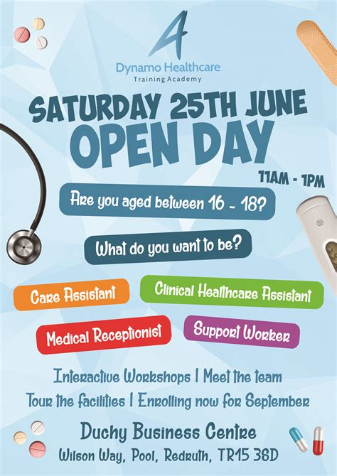 academy open day  june dynamo healthcare training