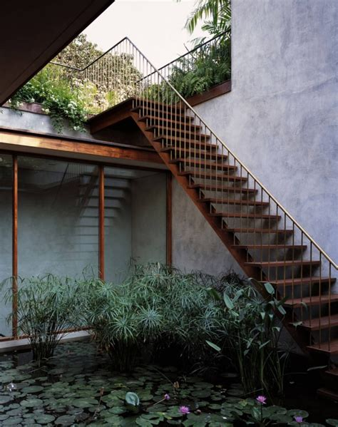 courtyard designs serene house with courtyard pond