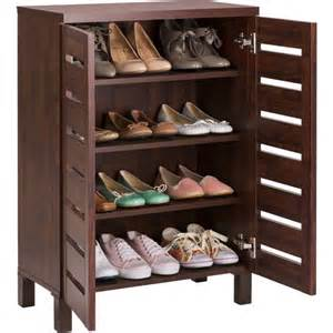 Mahogany Storage Cabinet by Buy Home Slatted Shoe Storage Cabinet Mahogany Effect At