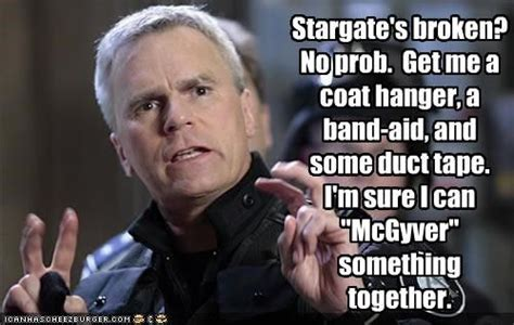 Stargate Memes - macgyver funny quotes quotesgram