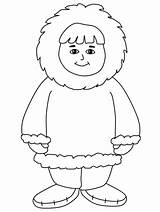 Fat Coloring Boy Inuit sketch template