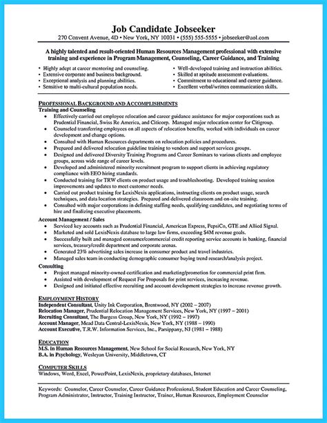 An Resume by Outstanding Counseling Resume Exles To Get Approved