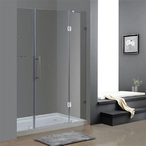 60 shower door aston soleil 60 in x 77 5 in completely frameless hinge
