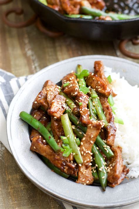 Sesame Pork And Green Beans I Used Chicken Breasts And