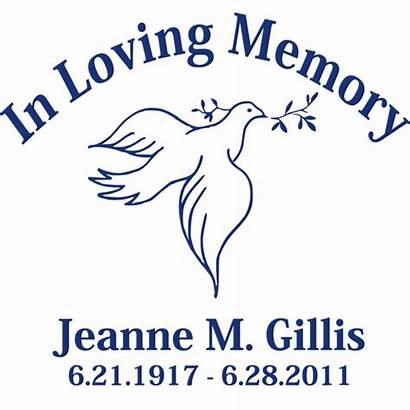 Memory Clipart Loving Dove Remembrance Cliparts Clip