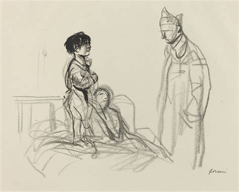 jean louis hospital jean louis forain mother and child visited by soldier in