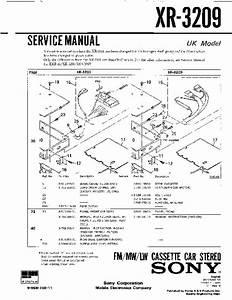 Sony Xr-3209 Service Manual
