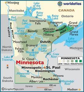 Minnesota Large Color Map
