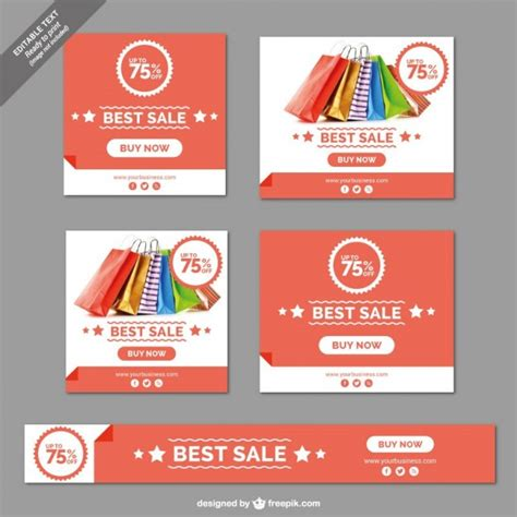 sale banners collection vector free download
