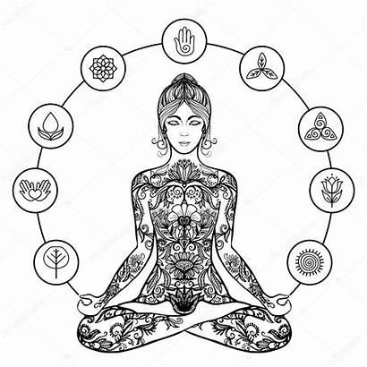 Yoga Meditation Lotus Pose Woman Vector Icon