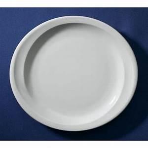 Assiette Plate Blanche : assiette plate ovale blanche 25 8x23 2cm en porcelaine elypse sarreguemines ~ Teatrodelosmanantiales.com Idées de Décoration