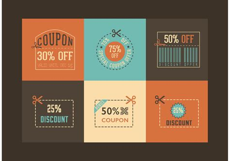 retro coupon designs vector   vectors