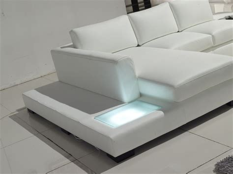 Modern White Leather Sofas by Modern White Compact Leather Sectional Sofa Tos Lf 2029 Comp