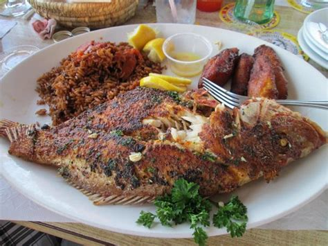 deck restaurant nassau bahamas grilled snapper excellent picture of the