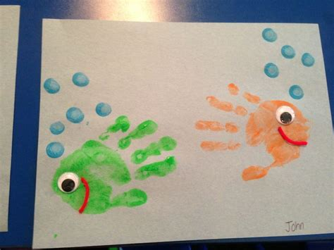 25+ Best Ideas About Hand Print Fish On Pinterest