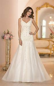 extravagant stella york wedding dresses modwedding With robe a bretelle fine