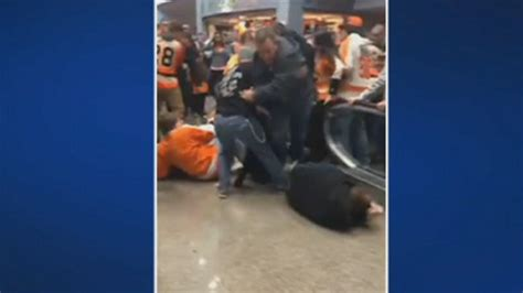 Fans Thrown From Malfunctioning Escalator After Flyers