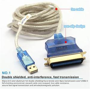 Usb To Parallel Adapter Cable Ieee 1284 Usb Printer Cable