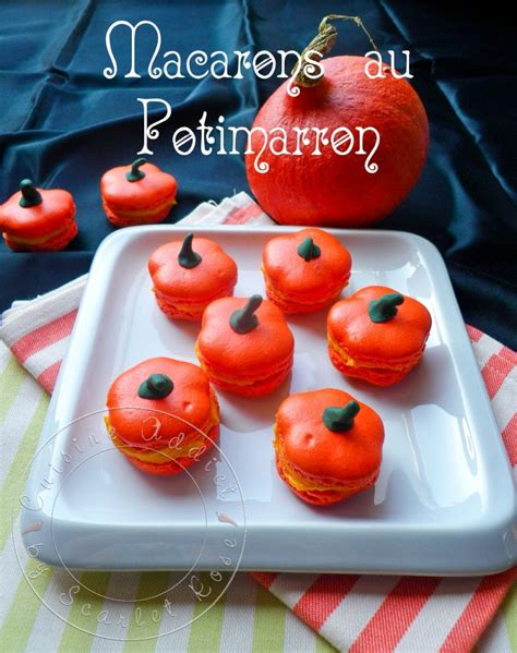 cuisine citrouille potimacarons macarons au potimarron en forme de