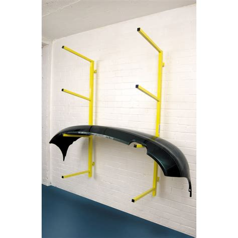fast mover tools wall mounted foldaway bumper storage rack