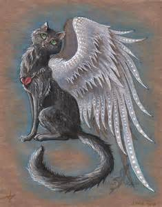 cats with wings winged cat on legendary creatures deviantart