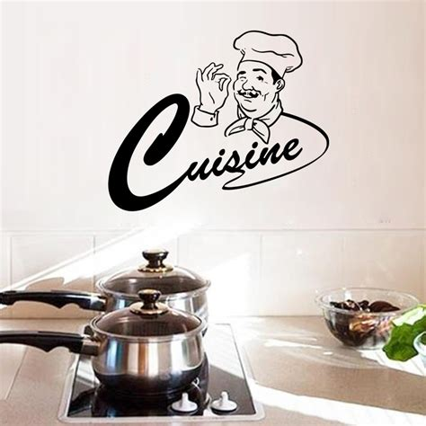 wall stickers for kitchen design happy master chef kitchen room wall stickers home decor 8887