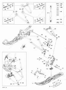 Ski Doo 2010 Grand-touring - Se 1200  Front Suspension And Ski Se 1200  North America