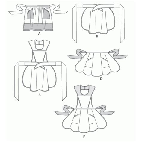 patron de tablier de cuisine modèle couture tablier