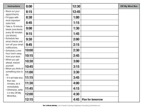 schedule printable images gallery category page