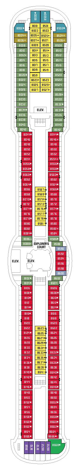 Serenade Of The Seas Deck Plans by Deck Plan For Serenade Of The Seas Iglucruise