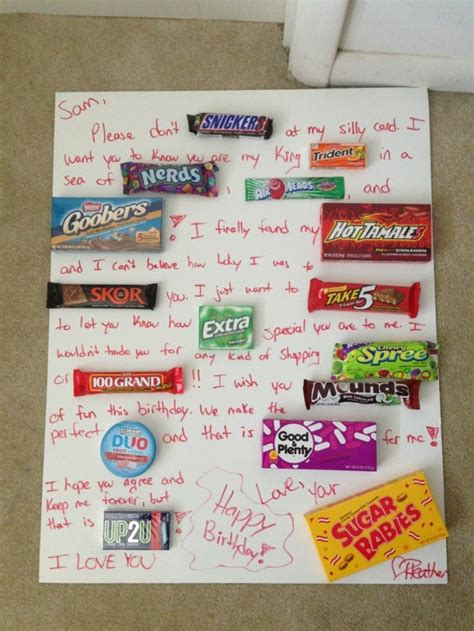 Valentine Cards Using Candy Bars