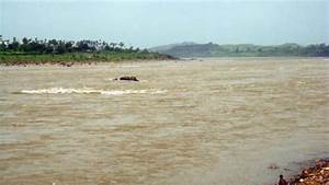 Narmada River in monsoon. - after the dam. - Picture of ...