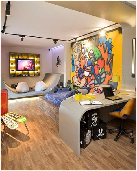 skateboard themed room skateboarding bedrooms for teenagers skate and graffiti enthusiasts bedroom decorating ideas
