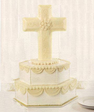 unique cake toppers  christian cross wedding cake