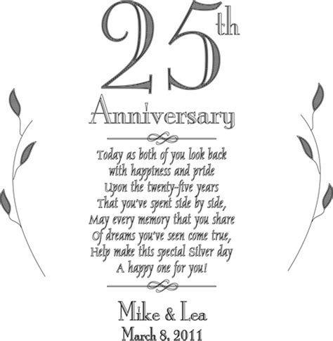 personalized wedding scrapbook personalized plate 25th silver anniversary keepsake plate