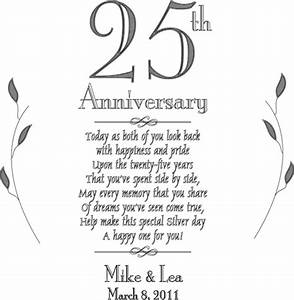 Personalized plate 25th silver anniversary keepsake plate for 25th wedding anniversary poems